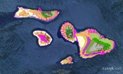 Pre-contact Footprint-Eco-systems-Maui Nui-GoogleEarth-OHA-TNC