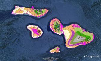 Pre-contact Footprint-Eco-systems-Maui Nui-GoogleEarth-OHA-TNC