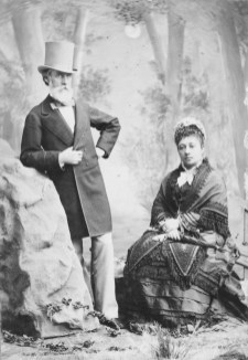 Princess Bernice Pauahi Paki Bishop and her husband, Charles Reed Bishop