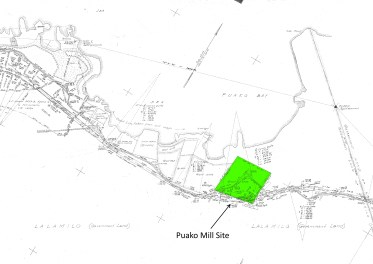 Puako Bay-DAGS4027-zoom-noting Grant 4856-Puako Mill Site
