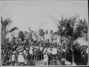 Public mourners crowded at King Kalakaua's funeral at Mauna Ala-PP-25-6-006