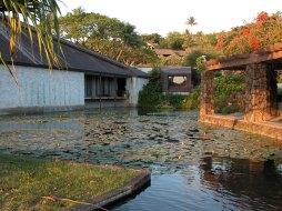 Punahou spring flows into pools inside Robert Shipman Thurston, Jr. Memorial Chapel, 1967-Ossipoff