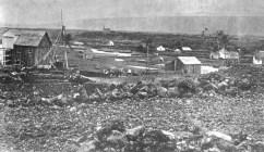 Punalu'u Landing c. 1880 showing portion of village-CS