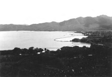 Punaluu Fishpond bulging in the center-1930s-600
