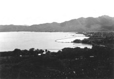 Punaluu Fishpond bulging in the center-1930s-600