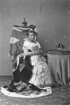 Queen Kapiolani wearing her coronation gown-PP-97-14-001-1883