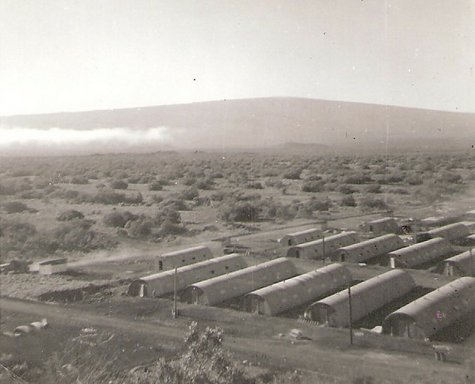 Quonset Huts Constructed by B Co., 3rd Shore Party Bn., Pohakuloa Training Area, Hawaii - Dec 1956 ((c)-thecoys2)