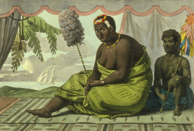 Reportedly-Kanaʻina was kāhili bearer and attendant to Ka'ahumanu