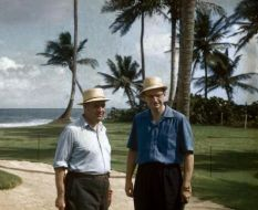 Robert Trent Jones and Laurance Rockefeller at Dorado Beach in the 1950s