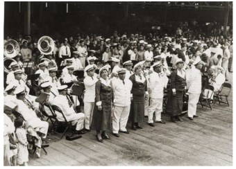 Royal Hawaiian Band welcoming the Emden