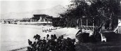 San Souci Beach Area - large house (Mitchell) is where Natatorium is now located-1886