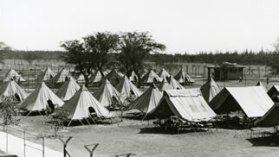Sand Island-Internee tents shortly after the camp opened in December, 1941