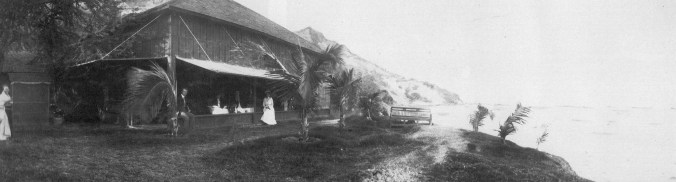 Sanford Dole beach house at Kaluahole, Diamond Head-1905
