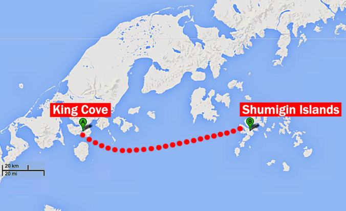 Shumagin Islands to King Cove