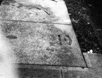 Sidewalk Stamp Downtown Honolulu-John_Walker-(walker-moody-com)-1971