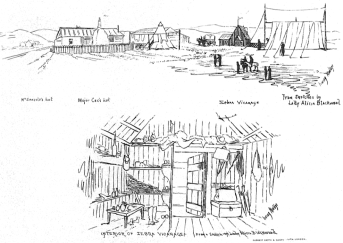 Sketch of Mary Seacole's British Hotel in Crimea, by Lady Alicia Blackwood (1818–1913)