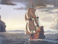 Spanish_Galleon-past-Puna-(HerbKane)