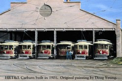 Spring of 1901, the new carbarn of the HRT&L Company-(JLB Press)
