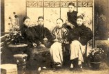 Sun Yat-sen (2nd from left)-Yeung Hok-ling (L) Chan Siu-bak (2nd from right) Yau Lit (R) & Guan Jingliang (stand)