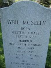 Sybil Binghams Headstone