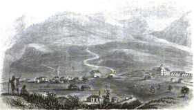 The Mission Seminary at Lahainaluna on Maui in the 1830s, from Hiram Bingham I's book