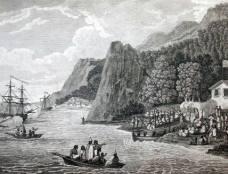The launching of the North West America Ships of Meares at Nootka Sound in 1788-Webber