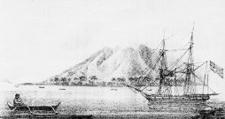 The only image of Cleopatra's Barge in Hawaii - here at Lahaina, Maui