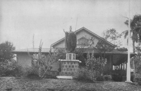 The original statue of King Kamehameha I, in Kapaʻau