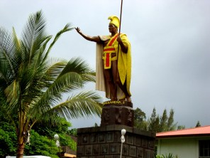 The original statue of King Kamehameha I, in Kapaʻau, North Kohala. Sculptor-Thomas Ridgeway Gould