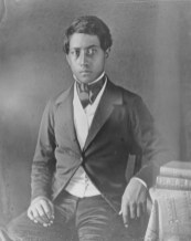 The young Prince William Charles Lunalilo in his teens