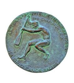 Toots Minvielle Memorial Honor Bronze Canoe Medal