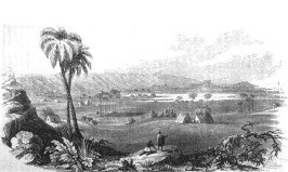 View of southern Oʻahu from ʻEwa in the 1820