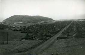 View of the eastern portion of Camp Maui. The 23rd Marines inhabited these tents-(BenBradshaw)