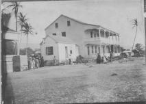 Visit to Hulihee Palace, Kona, Hawaii by Jonah Kuhio Kalanianaole (1871-1922) and party-(HSA)-PP-97-1-012