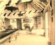 Volcano House billiard room, Kīlauea, Hawai'i-(HHS-6019)-early 1890s