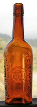 WC Peacock-Whiskey Bottle