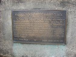 Waiakea Social Settlement Clock plaque