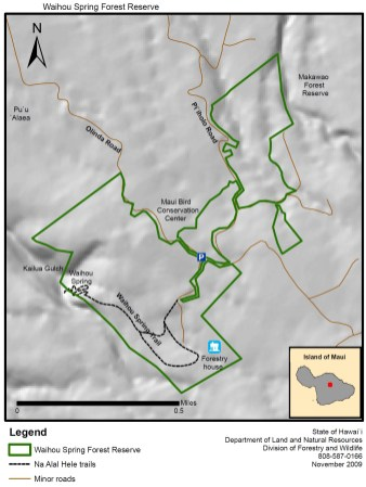 Waihou Spring Forest Reserve Map