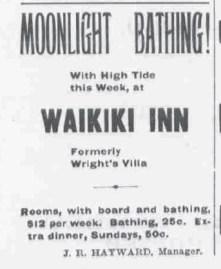 Waikiki Inn Ad- Hawaiian Star-Oct_10,_1899