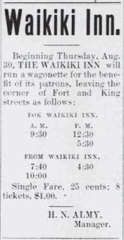 Waikiki Inn Ad-HonoluluRepublican-Aug_30,_1900