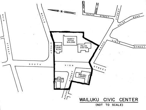 Wailuku Civic Center Historic District-Map
