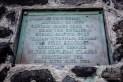 Memorial plaque at the Hikiau Heiau, Kealakekua Bay, Big Island, Hawaii