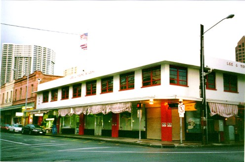 Wing Cheong Lung store-Honolulu's Chinatown at Maunakea and Hotel Streets-revolutionay meetings and transient quarters
