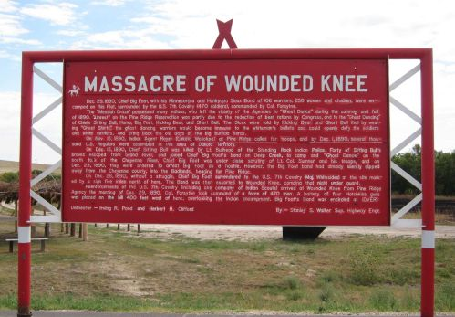 Wounded Knee sign