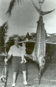 george_marlinweighing marlin at Kona Inn-not HIBT entry-MarlinMagic