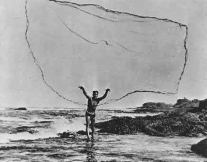 shorefishing-throw net