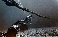 submarine-telephone-cable-and-diver--hanauma-bay-1973-bill-owen