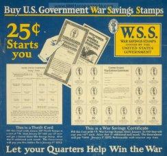 war saving stamps card