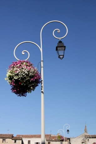 Lampost and basket hook, Limoux, France