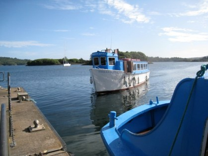 ferry to garinish island, bantry, ireland